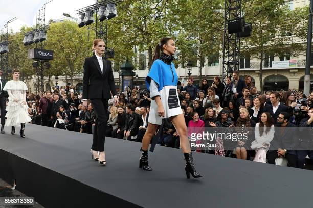 Le Defile L'Oreal Paris General Ambiance as part of the Paris Fashion Week Womenswear Spring/Summer 2018 on October 1 2017 in Paris France