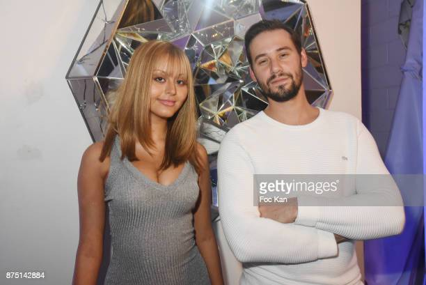 Le Diamantaire and Zahia Dehar attend the 'Second Life' By Le Diamantaire Private Exhibition Preview at Atelier Philippe Berry on November 16 2017 in...