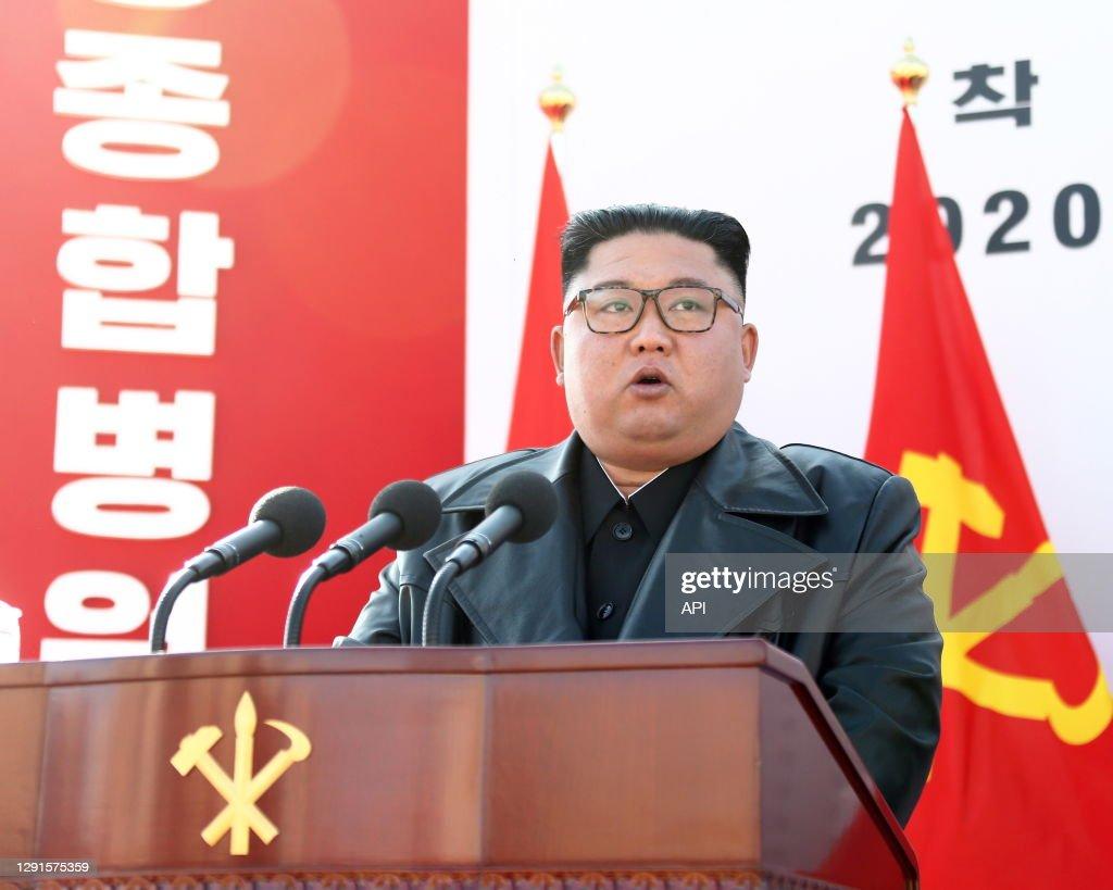 Le dictateur nord-coréen Kim Jong-un : News Photo
