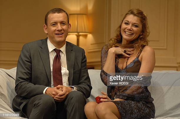 """Le diner de cons"""" of Francis Veber with Dany Boon and Arthur in Paris, France on September 19, 2007 - Dany Boon, Juliette Meyniac. The theater of..."""