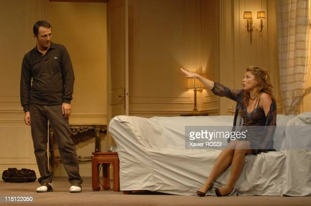 """Le diner de cons"""" of Francis Veber with Dany Boon and Arthur in Paris, France on September 19, 2007 - Arthur, Juliette Meyniac. The theater of Porte..."""