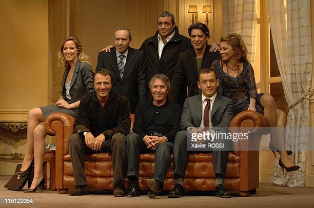 """Le diner de cons"""" of Francis Veber with Dany Boon and Arthur in Paris, France on September 19, 2007 - 1st row: Arthur, Dany Boon and Francis Veber;..."""