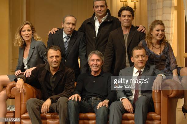 """Le diner de cons"""" of Francis Veber with Dany Boon and Arthur in Paris, France on September 19, 2007 - 1st row Arthur, Dany Boon and Francis Veber;..."""