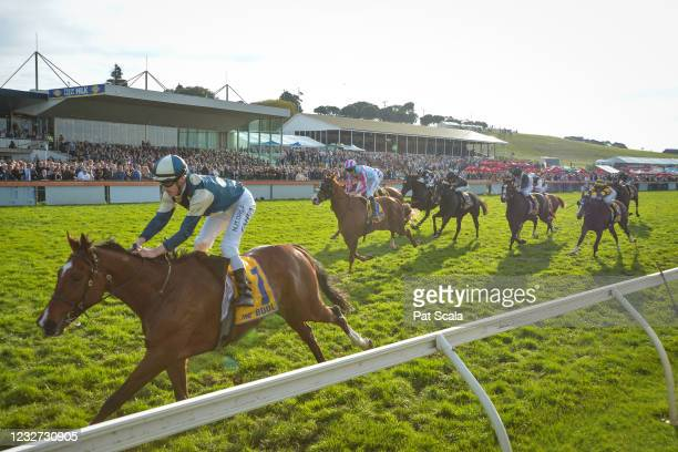 Le Don De Vie ridden by Mark Zahra wins the Sungold Milk Warrnambool Cup at Warrnambool Racecourse on May 06, 2021 in Warrnambool, Australia.