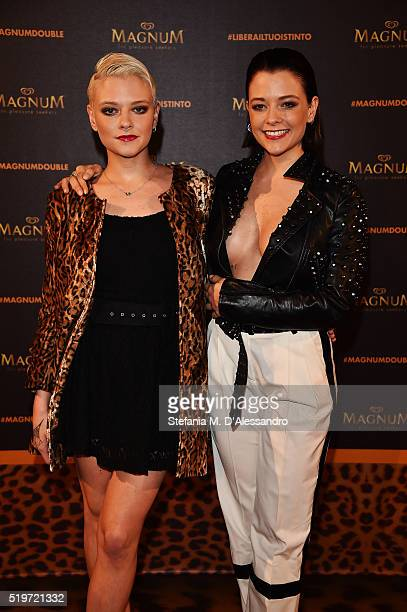 Le Donatella attends 'Libera Il Tuo Istinto' Party by Magnum on April 7 2016 in Milan Italy