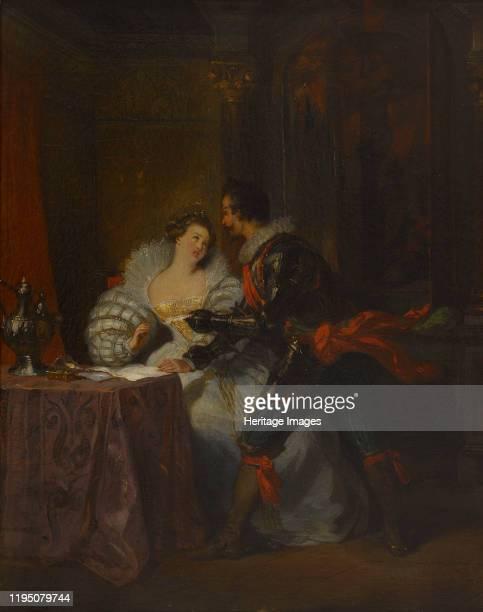 """Le Duc et la Duchesse de Guisse. After """"Henry III and His Courts"""" by Alexandre Dumas, 1829. Found in the Collection of Musée de la Vie romantique,..."""