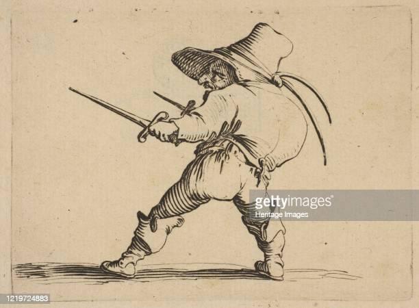 Le Duelliste a L'Épée et au Poignard from Varie Figure Gobbi suite appelée aussi Les Bossus Les Pygmées Les Nains Grotesques 161622 Artist Jacques...