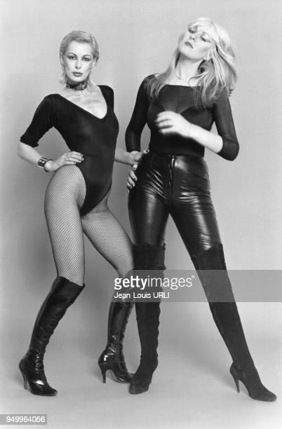 Le duo de chanteuses britanniques Blonde on Blonde composé de Nina Carter et Jilly Johnson lors d'une séance de photos à Paris en France en novembre...