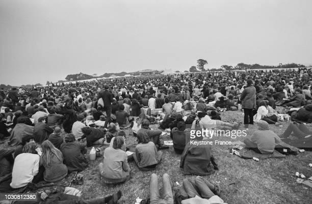 Le festival de musique de l'île de Wight en août 1969 au RoyaumeUni