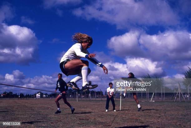Le footballeur argentin Claudio Caniggia pendant un entrainement