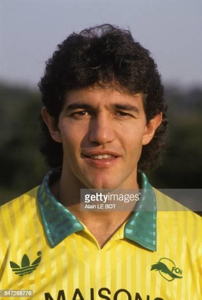 Le footballeur argentin Jorge Burruchaga au FC Nantes en juin 1990 a Nantes France