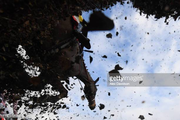Le Frank ridden by Blair Campbell jumps during the JSC Communications Supports Insurance Industry Raceday Handicap Chase at Sandown Park on December...