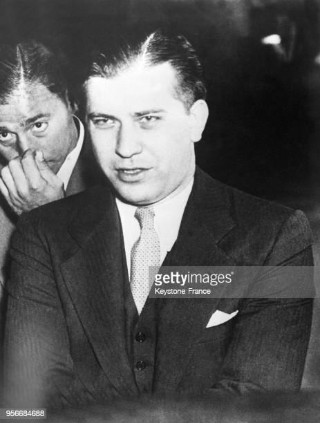 Le gangster Jack McGurn surnommé 'mitrailleuse Jack' aux EtatsUnis en 1936