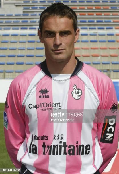 Le gardien du FC Lorient Lionel Cappone pose le 18 septembre 2006 au stade du Moustoir à Lorient