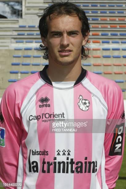 Le gardien du FC Lorient Rémy Riou pose le 18 septembre 2006 au stade du Moustoir à Lorient