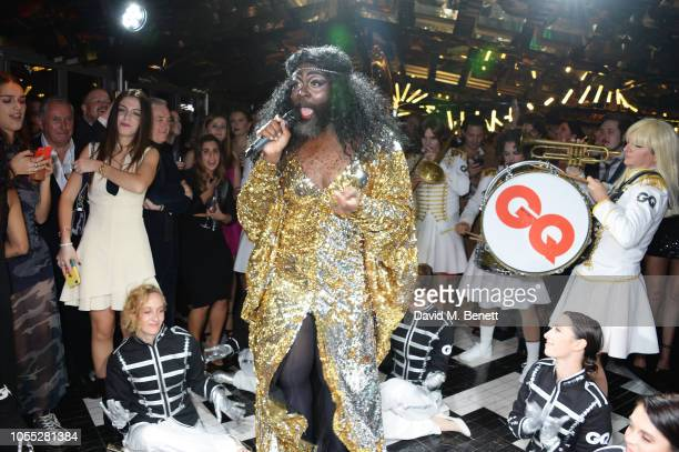 Le Gateau Chocolat performs at the GQ 30th anniversary party at SUSHISAMBA Covent Garden on October 29 2018 in London England