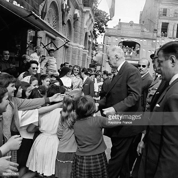 Le Général de Gaulle à Montauban France en avril 1961