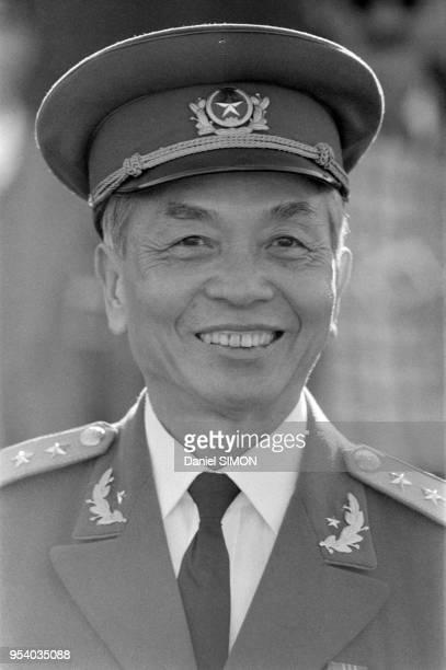 Le général Giap à Alger lors du 25ème anniversaire de l'insurrection qui amena l'indépendance de l'Algérie 1er novembre 1979