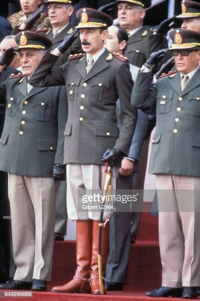 Le général Jorge Videla et la junte militaire en juin 1978 en Argentine.
