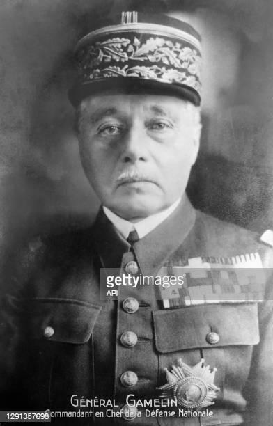 Le général Maurice Gustave Gamelin commandant de l'Armée française pendant la guerre de 1939-1940, pendant le régime de Vichy, Gamelin est arrêté et...