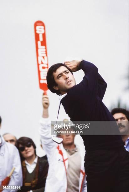 Le golfeur Severiano Ballesteros lors du Trophée Lancôme de golf le 23 octobre 1982 à SaintNomlaBretèche France