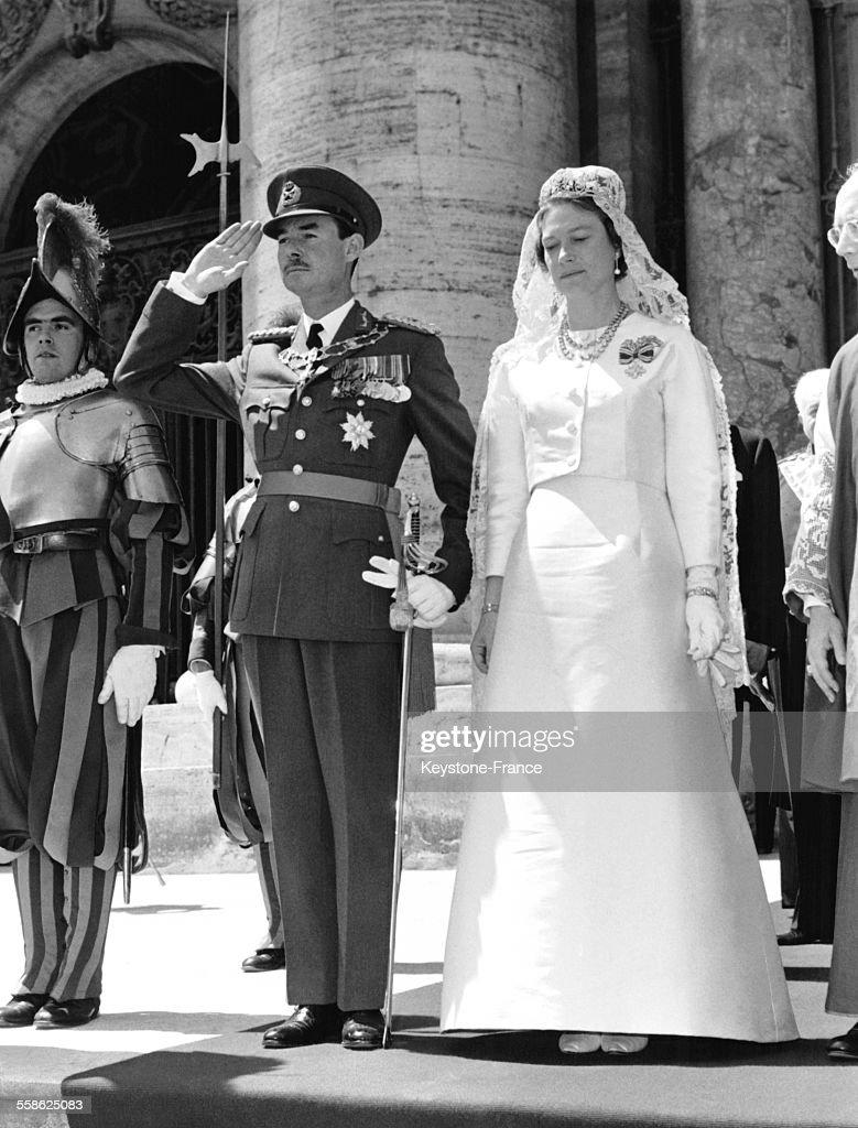 Le Prince Jean De Luxembourg Et Sa Femme Joséphine-Charlotte Au Vatican : News Photo