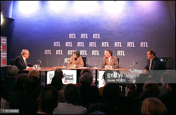 Le grand jury RTL Le Monde political debate on RTL radio in France on February 04 2002 Presidential candidates JeanMarie Le Pen of the National Front...