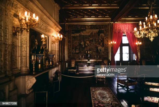Le grand salon du château de Pau, dans les Pyrénées-Atlantiques, France.