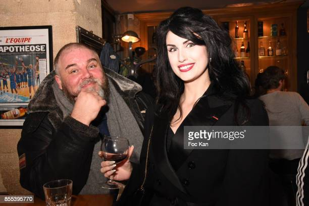 Le Grand Seigneur Editor in chief Olivier Malnuit and Elsa Oesinger attend the Apero Gouter Cocktail Hosted by Le Grand Seigneur Magazine at Bistrot...
