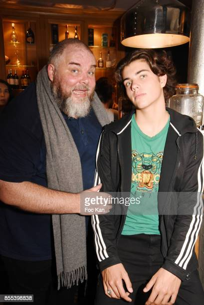 Le Grand Seigneur Editor in chief Olivier Malnuit and his son attend the Apero Gouter Cocktail Hosted by Le Grand Seigneur Magazine at Bistrot...