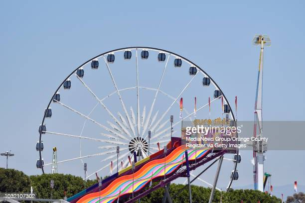 Le Grande Wheel XL the tallest transportable observation wheel in the Western Hemisphere sits at the eastern edge of the Orange County Fair in Costa...
