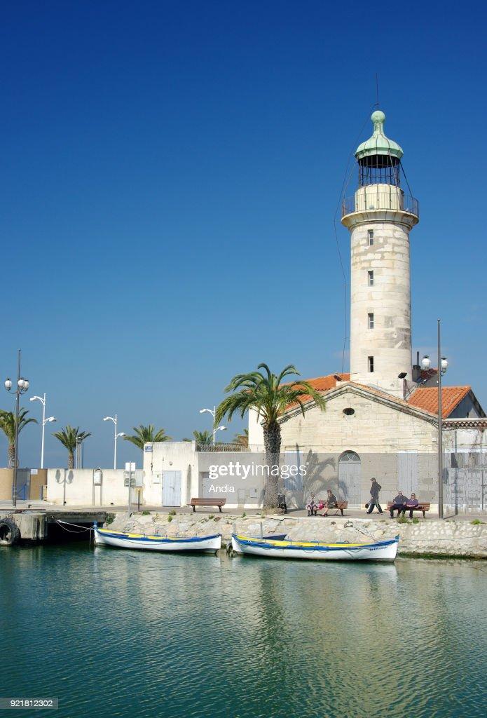 Le Grau-du-Roi, the Old Lighthouse. : News Photo