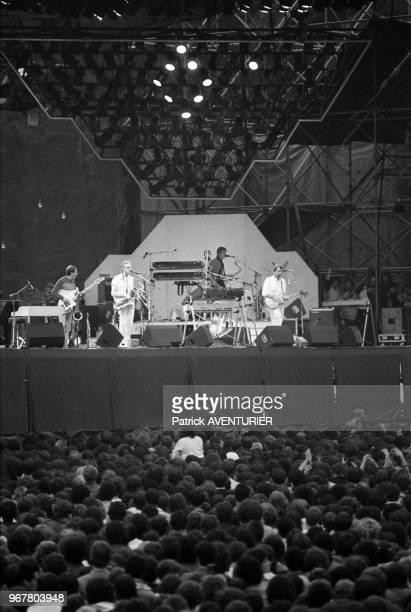 Le groupe anglais Supertramp en concert au Parc de Sceaux le 26 juin 1983 France