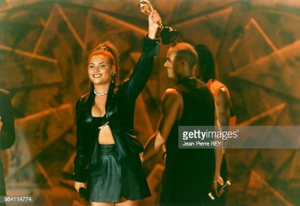 Le groupe de dance music 2 Unlimited vainqueur de'un World Music award le 3 mai 1995 à Monaco