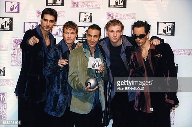 Le groupe des Backstreet Boys récompensé aux MTV Awards le 6 novembre 1997 à Rotterdam PaysBas
