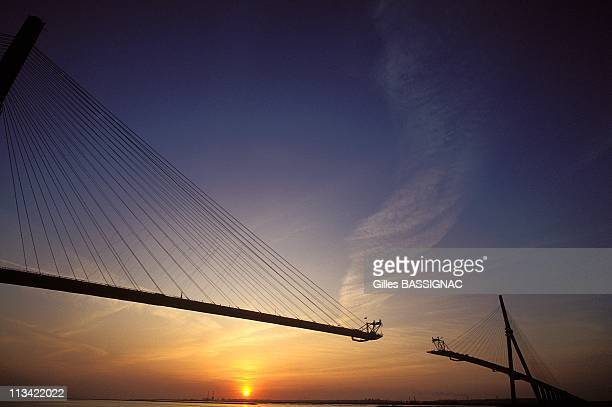 Le Havre Builder Du Pont De Normandie The Biggest Stayed Bridge In The World On April 29th 1993