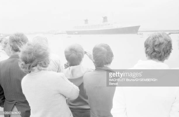 Le Havre France août 1979 L'expaquebot France racheté une première fois en octobre 1977 par Akram Ojjeh riche homme d'affaires saoudien pour 80...