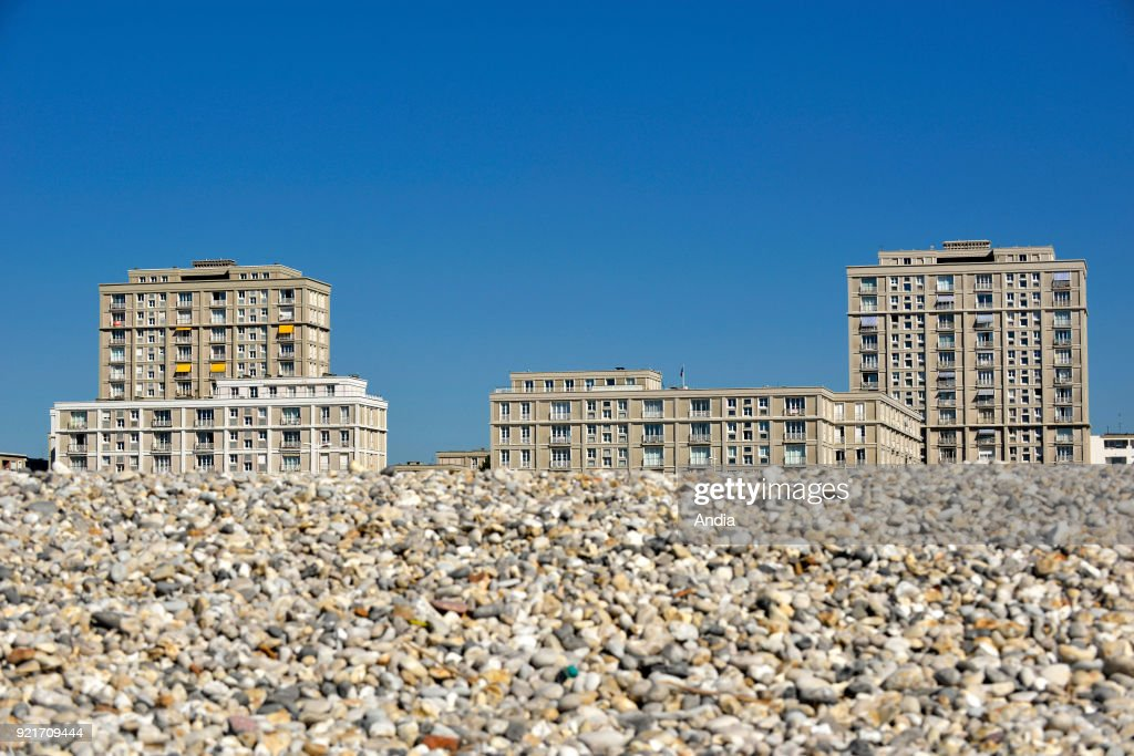 Le Havre, beach and waterfront. : News Photo