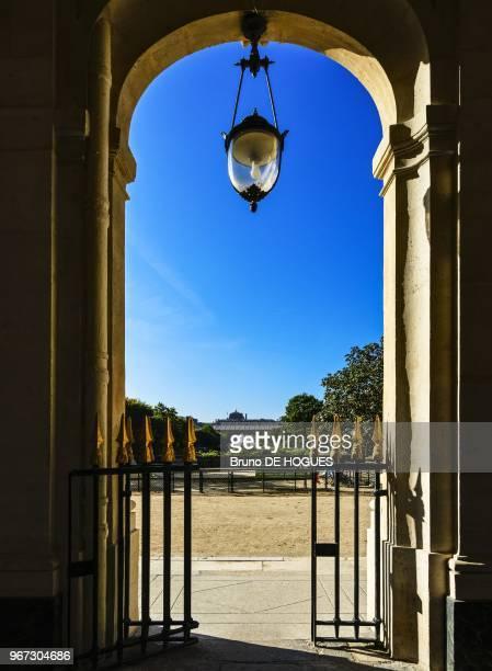 Le jardin du Palais Royal depuis la Galerie de Beaujolais le 24 Septembre 2013 Paris France