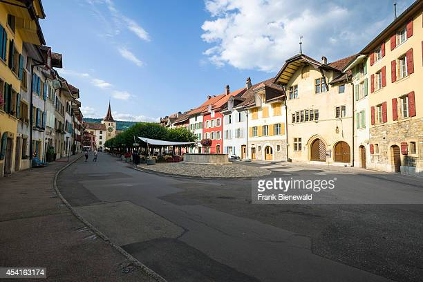 LE LANDERON BERN SWITZERLAND Le Landeron is a historical township at Lake Biel with beautiful old houses