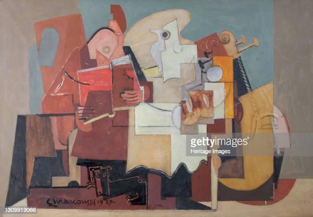 Le Lecteur, 1937. [The Reader]. Artist Louis Marcoussis. .