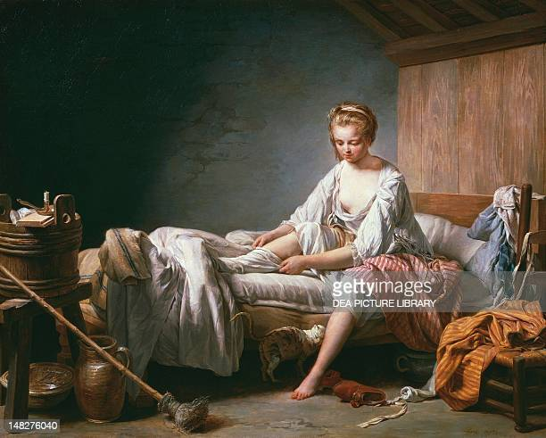 Le Lever de Fanchon by Nicolas Bernard Lepicie oil on canvas 74x93 cm SaintOmer Hôtel Sandelin
