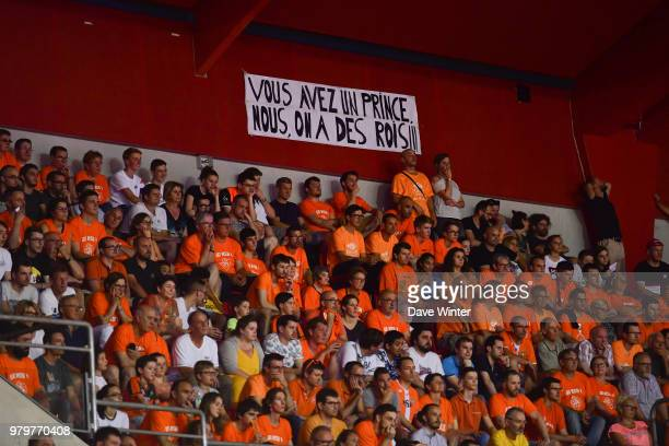Le Mans fans during match 4 of the Jeep Elite final between Le Mans and Monaco on June 20 2018 in Le Mans France