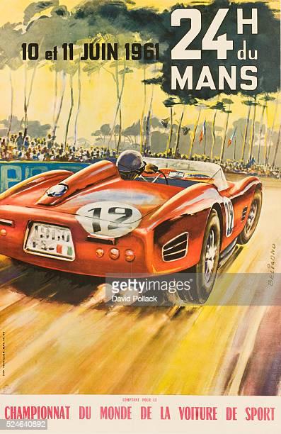 Le Mans Formula 1 Gran Prix poster from circa 1961.