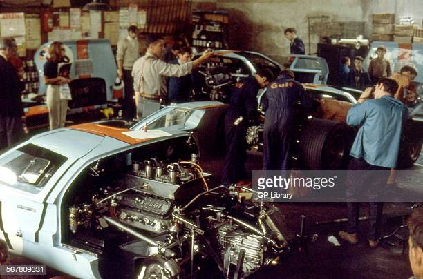 Le Mans Gulf Ford GT40 preparation
