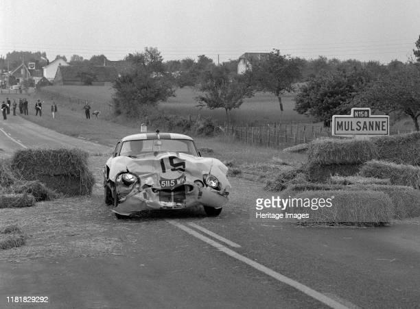 Le Mans Jaguar E type Lightweight crash on Mulsanne Creator Unknown