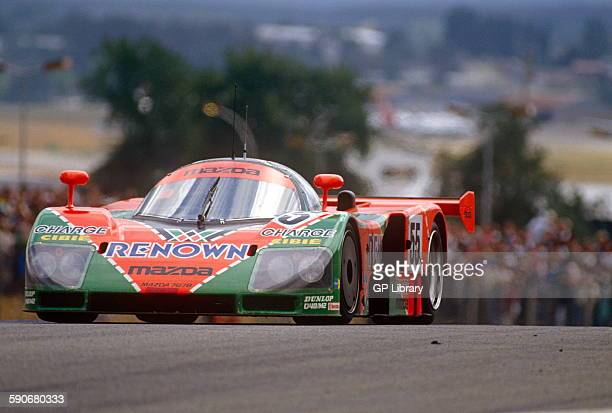 Le Mans winning Mazda 787B driven by Johnny Herbert at Le Mans
