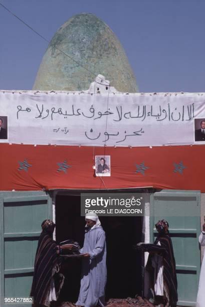 Le marabout du moussem de la fête des fiançailles d'Imilchil en octobre 1985 Maroc