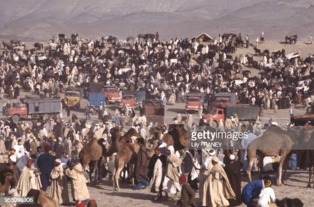 Le marché du moussem d'Imilchil dans le Haut Atlas au Maroc en 1983