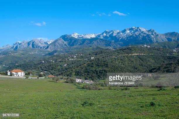 Le massif montagneux du Djurdjura en Kabylie région de l'enlèvement et de l'assassinat du guide français Hervé Courdel